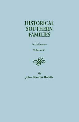 Image for Historical Southern Families, Volume VI