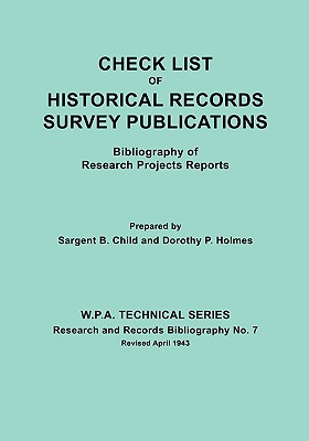 Image for Check List of Historical Records Survey Publications