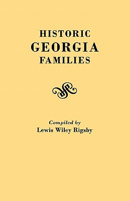 Image for Historic Georgia Families
