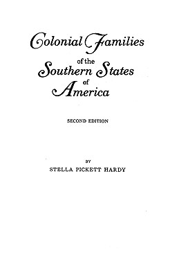 Image for Colonial Families of the Southern States of America