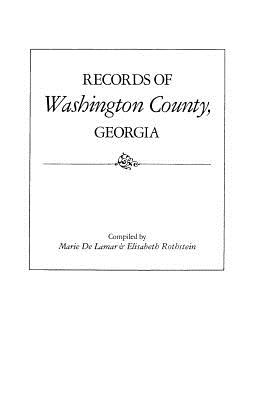 Image for Records of Washington County, Georgia