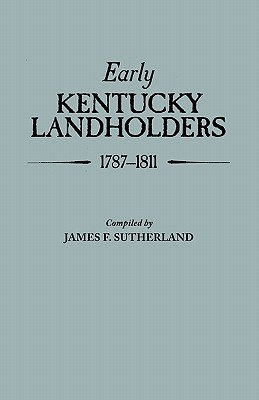 Image for Early Kentucky Landholders, 1787-1811