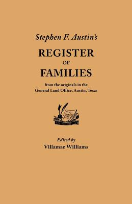 Image for Stephen F Austin's Register of Families