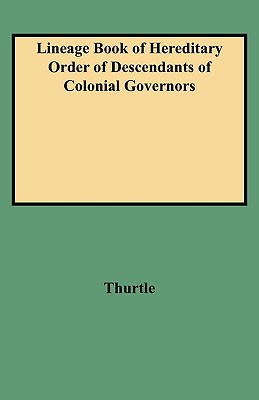 Image for [Lineage Book of] Hereditary Order of Descendants of Colonial Governors