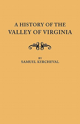 Image for A History of the Valley of Virginia