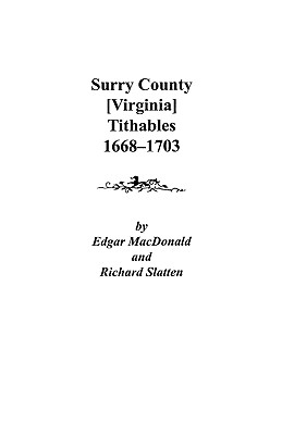 Image for Surry County [Virginia] Tithables, 1668-1703