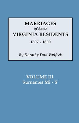 Image for Marriages of Some Virginia Residents, Vol. III