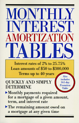 Image for MONTHLY INTEREST AMORTIZATION TABLES : I