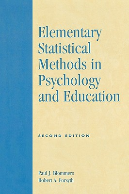Image for Elementary Statistical Methods in Psychology and Education, Second Edition