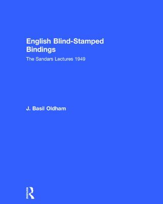 Image for English Blind Stamped (History of Bookbinding and Design Vol 18)