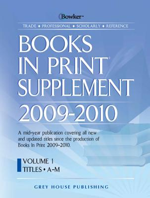 Image for Books in Print 2009-2010 The Master Reference to Titles, Authors, Publishers, Wholesalers, and Distributors. Includes ISBNs 7-Volume Set