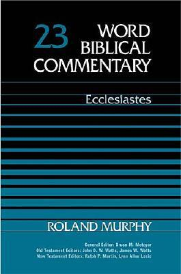 Image for WBC Vol. 23a, Ecclesiastes  (Word Biblical Commentary)