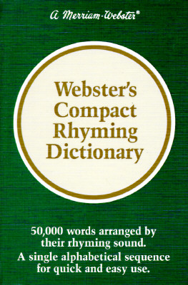 Image for Webster's Compact Rhyming Dictionary