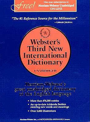 Webster's Third New International Dictionary of the English Language, Philip Babcock Gove [Editor]