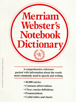 Image for Merriam-Webster English Notebook Dictionary