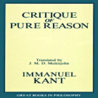 Image for The Critique of Pure Reason (Great Books in Philosophy)