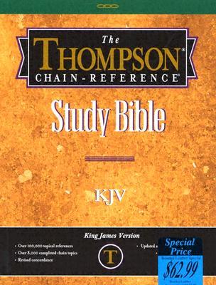 Image for KJV - Black Bonded Leather - Regular Size - Indexed - Thompson Chain Reference Bible (025090)