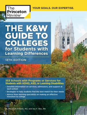Image for K&W Guide to Colleges for Students with Learning Differences