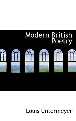 Modern British Poetry, Untermeyer, Louis
