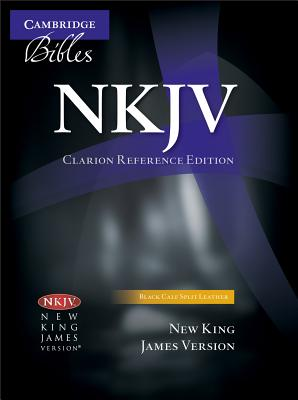 Image for NKJV Clarion Reference Black Calf Split NK484:X