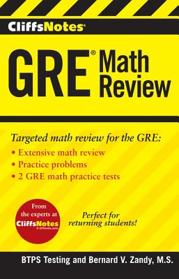 CliffsNotes GRE Math Review, BTPS Testing