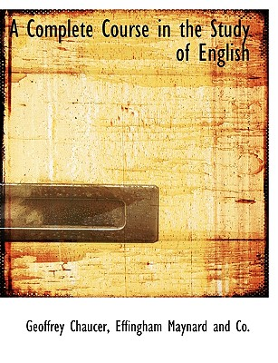 Image for A Complete Course in the Study of English