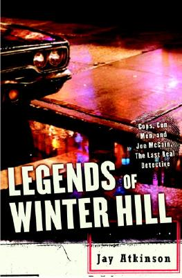 Image for Legends of Winter Hill: Cops, Con Men, and Joe McCain, the Last Real Detective