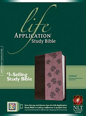 Image for Life Application Study Bible NLT, TuTone (Dk Brown/Pink Flowers)