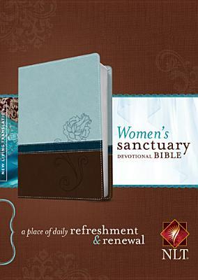 Image for Women's Sanctuary Devotional Bible NLT Cool Blue/Chocolate Rose
