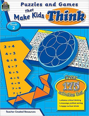 Image for Puzzles and Games that Make Kids Think Grd 2