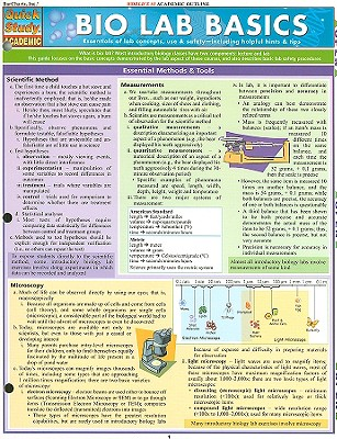 Bio Lab Basics Laminated Reference Guide (Quickstudy: Academic)