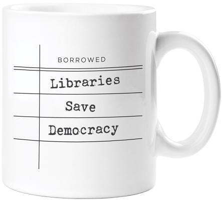 Image for Libraries Save Democracy Mug