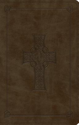 "Image for ""ESV Large Print Value Thinline Bible (TruTone, Olive, Celtic Cross Design)"""