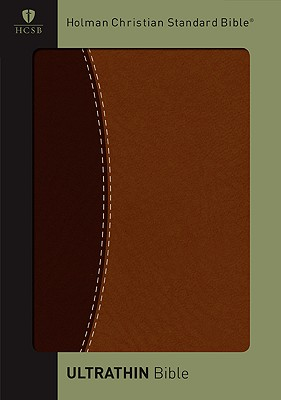 Image for HCSB Ultrathin Reference Bible, Dark Brown/Brown Simulated Leather