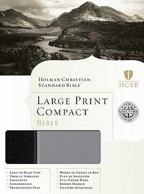 HCSB Large Print Compact Bible (Black/Gray Duotone), Holman Bible Editorial Staff