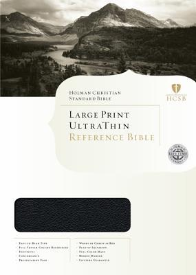 HCSB Large Print UltraThin Bible - Legacy Edition, Black Genuine Calfskin Leather