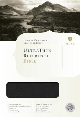 HCSB Ultrathin Reference Bible, Mantova Black LeatherTouch Indexed