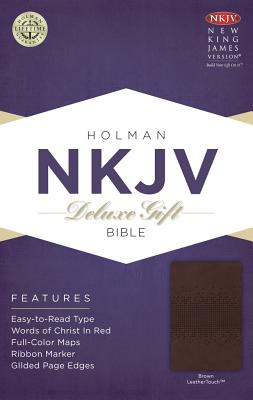 Image for NKJV Deluxe Gift Bible, Brown LeatherTouch