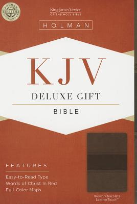 KJV Deluxe Gift Bible, Brown/Chocolate LeatherTouch