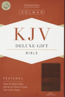 KJV Deluxe Gift Bible, Brown LeatherTouch