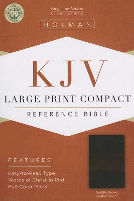 KJV Large Print Compact Reference Bible, Saddle Brown LeatherTouch