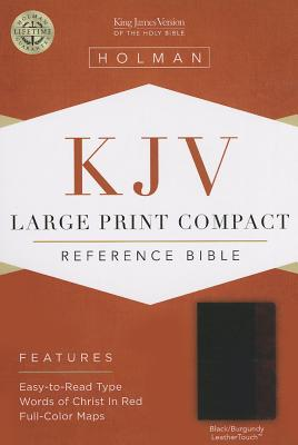 Image for KJV Large Print Compact Reference Bible, Black/Burgundy LeatherTouch