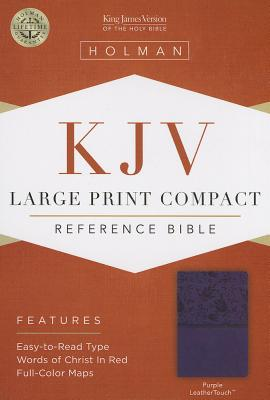 Image for KJV Large Print Compact Reference Bible, Purple LeatherTouch