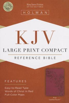 Image for KJV Large Print Compact Reference Bible Pink