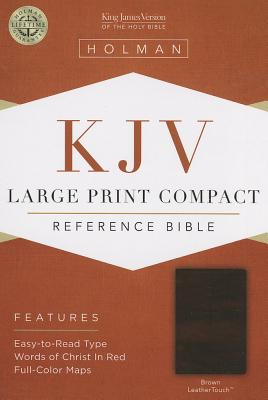 Image for KJV Large Print Compact Reference Bible, Brown LeatherTouch