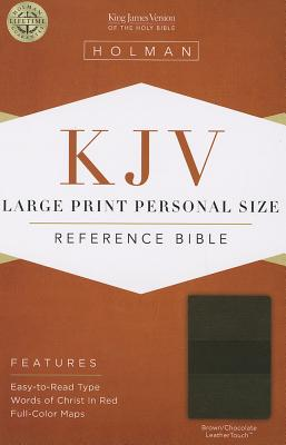Image for KJV Large Print Personal Size Reference Bible, Brown/Chocolate LeatherTouch