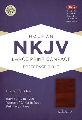 Image for NKJV Large Print Compact Reference Bible Brown