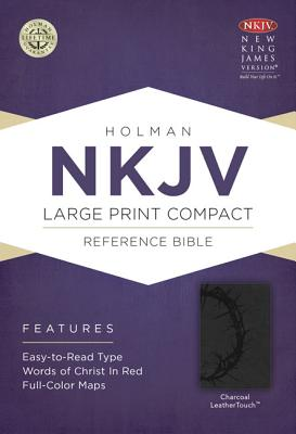 Image for NKJV Large Print Compact Reference Bible, Charcoal LeatherTouch