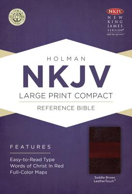 Image for NKJV Large Print Compact Reference Bible, Saddle Brown LeatherTouch