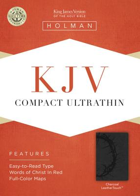 Image for KJV Compact Ultrathin Bible, Charcoal LeatherTouch